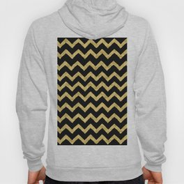 Chevron Black And Gold Hoody