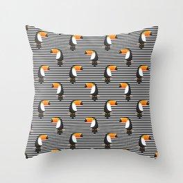 TOUCANS PATTERN tropical toucan Throw Pillow