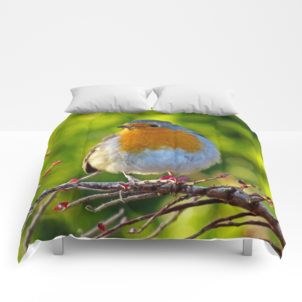Robin Redbreast Comforter by Catherineogden (CMF8331014) photo
