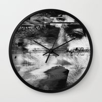 kurt cobain Wall Clocks featuring Kurt by nicebleed