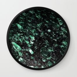 The Jade Sleeping Beneath the Black Granite Wall Clock