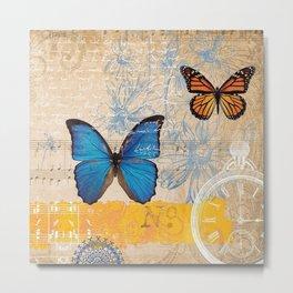Butterflies in Time Metal Print