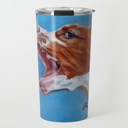 Brittany Spaniel Dog Portrait Travel Mug