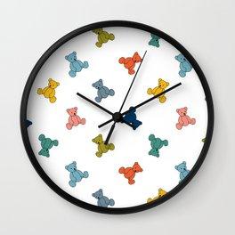 Teddy Bears Pattern Wall Clock
