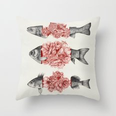 To Bloom Not Bleed  Throw Pillow