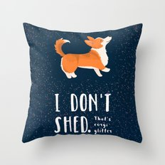 Corgi Glitter - Pembroke Welsh Corgi Throw Pillow