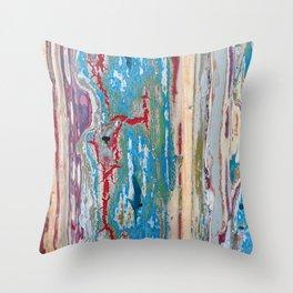 Peeling paint Throw Pillow