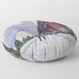 Winter In Paris Floor Pillow