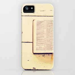 Reading the Psalms iPhone Case
