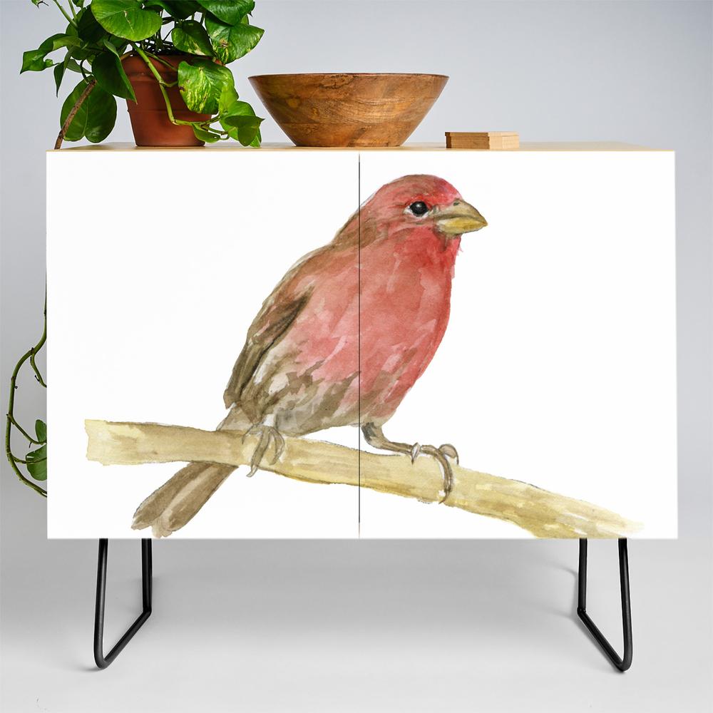 House Finch Bird Watercolor Credenza by susanwindsor (CDZ11342623) photo