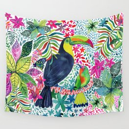 Toucan in the Rainforest Wall Tapestry