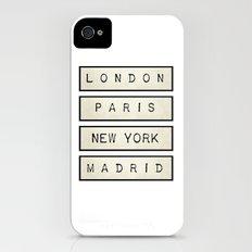 London | Paris | New York | Madrid iPhone (4, 4s) Slim Case