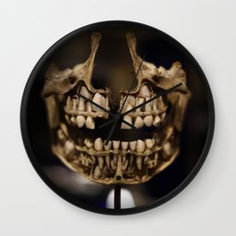 Deformed Human Teeth Wall Clock