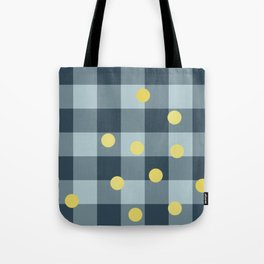 blue jeans & mimosa || pattern Tote Bag