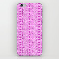 Lacey Lace - White Pink iPhone & iPod Skin