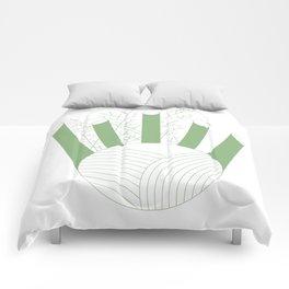Green Fennel Comforters