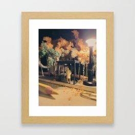 Long commute home Framed Art Print
