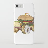 junk food iPhone & iPod Cases featuring junk food car by immiggyboi90