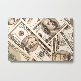 Background with money american  dollar bills Metal Print