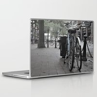bicycles Laptop & iPad Skins featuring Bicycles by Nick Nieu