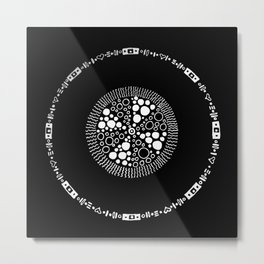 Satellite Moon Metal Print