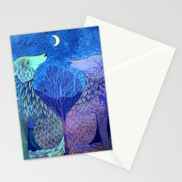 Us And The Moon Stationery Cards