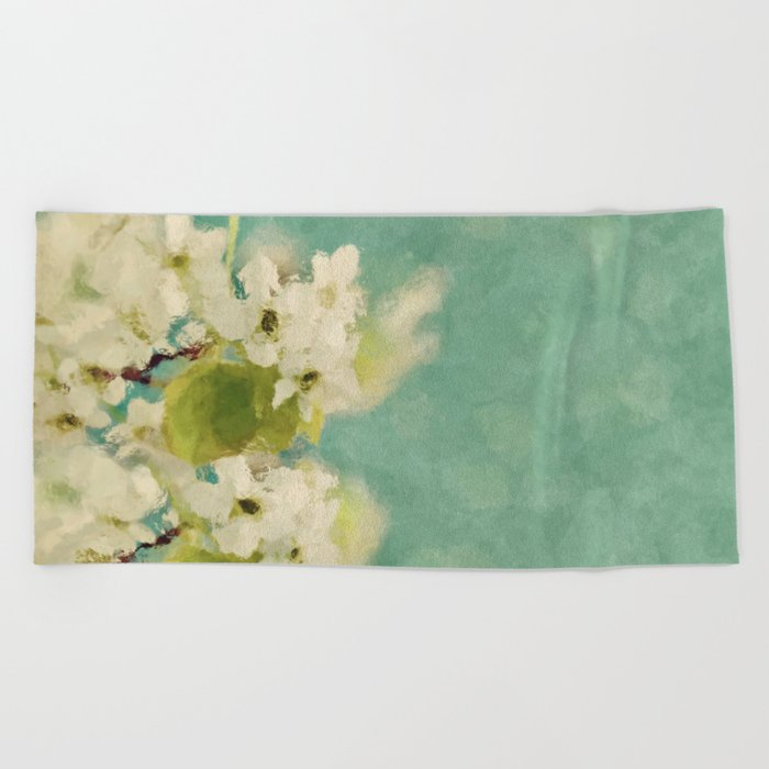 Dream of spring - Apple Blossom Appleblossoms  Flower Floral Beach Towel