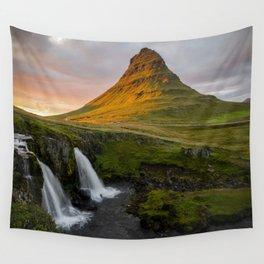 Kirkjufell at Sunset Wall Tapestry