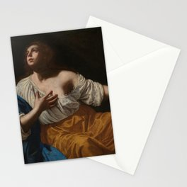 Artemisia Gentileschi - Mary Magdalene penitent Stationery Cards