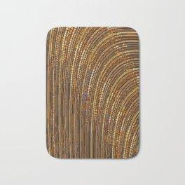 zara - art deco arc arch design in bronze copper gold Bath Mat