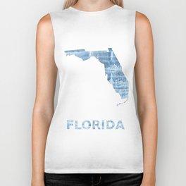 Florida map Biker Tank