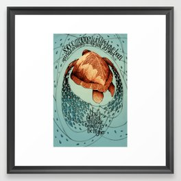 Bycatching Framed Art Print