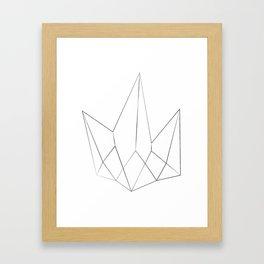 Kryptonite Minimal Art Framed Art Print