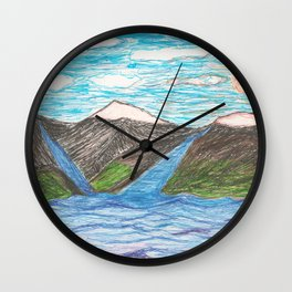 A Very Simple Landscape Wall Clock