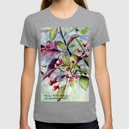 Branch With Blossoms Watercolor T-shirt