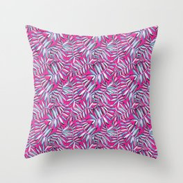 Wild Jungle in Hot Pink Throw Pillow