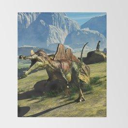 Ichthyovenator Dinosaur Throw Blanket