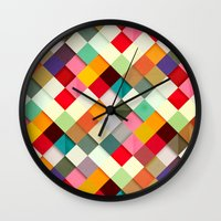 people Wall Clocks featuring Pass this On by Danny Ivan