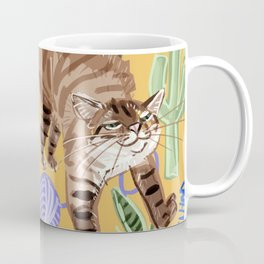 Ragdoll Cats pattern in yellow Coffee Mug