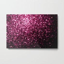 Beautiful Dark Pink glitter sparkles Metal Print