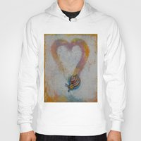snail Hoodies featuring Snail by Michael Creese