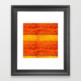 ORange wood Framed Art Print