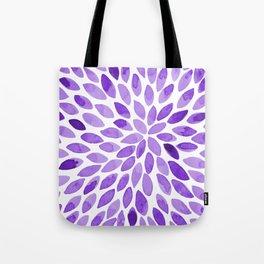 Watercolor brush strokes - ultra violet Tote Bag