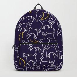 Cat Crescent Moon Backpack