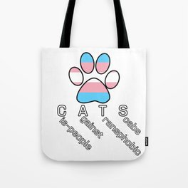 Cis-people Against Transphobia (CATS v2) Tote Bag