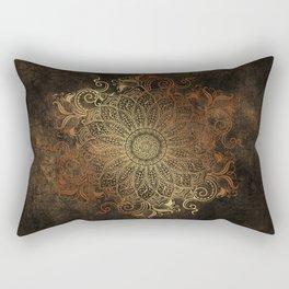Mandala - Copper Rectangular Pillow
