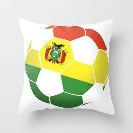 Bolivia Bolivian Soccer Ball Flag Football Throw Pillow