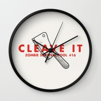 Cleave it - Zombie Survival Tools Wall Clock