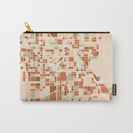 LAS VEGAS NEVADA CITY MAP EARTH TONES Carry-All Pouch