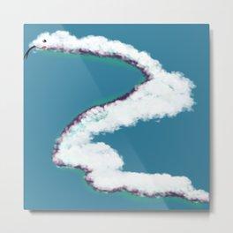 Cloud Snake Metal Print